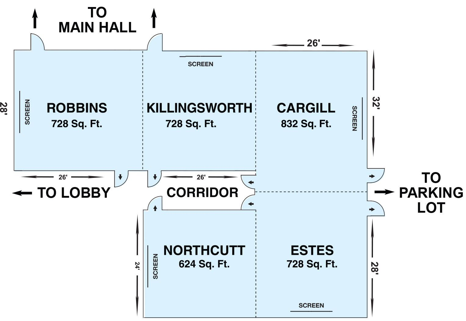 Activity Rooms Layout