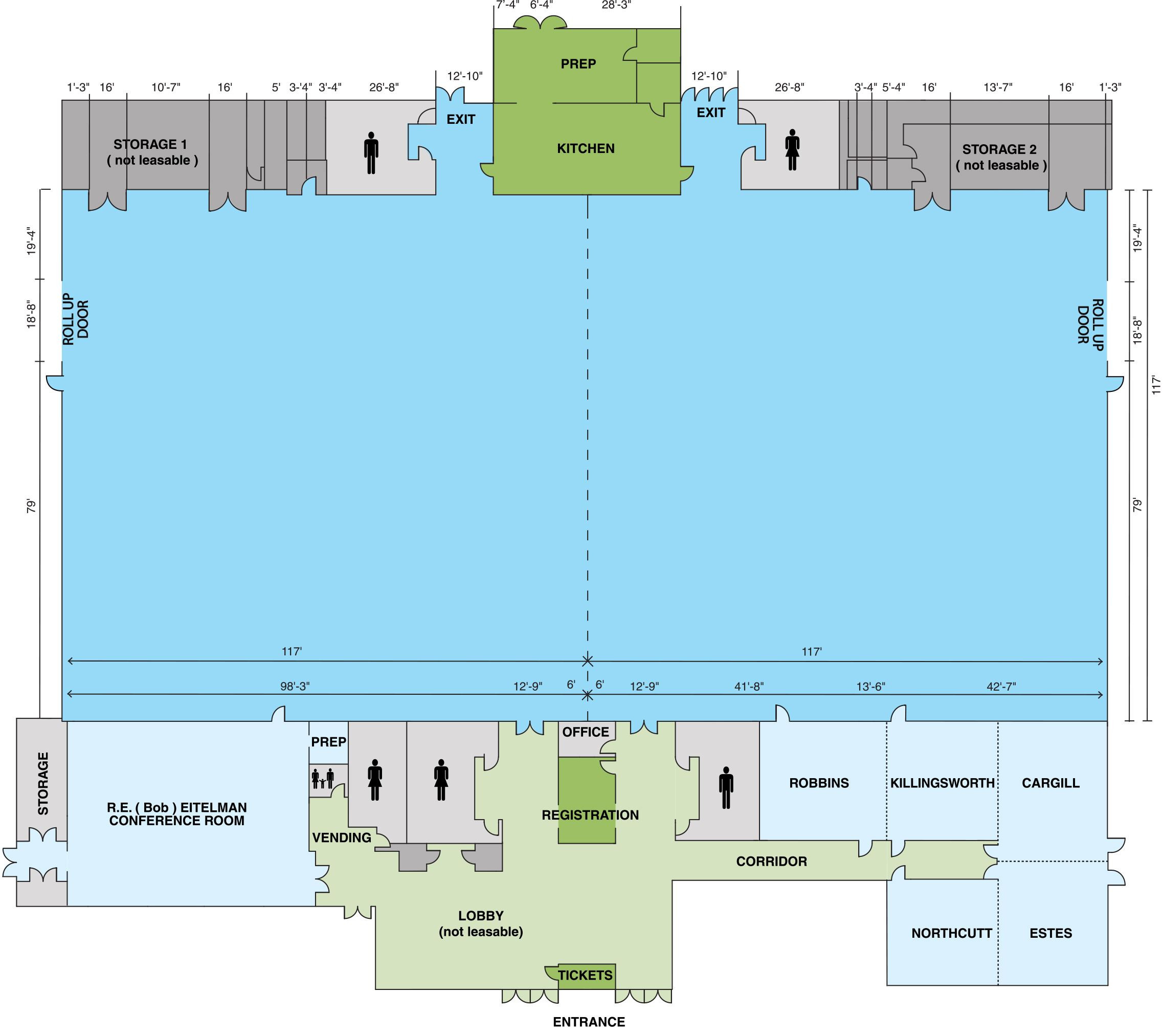 Convention Center Layout Overview